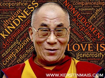 Dalai Lama bei Kerstin Mais