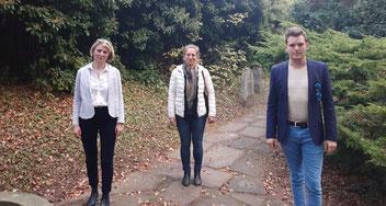 v.l.n.r.: Kathrin Anders MdL, Anke Föh-Harshman Vorstand OV, Felix Martin MdL