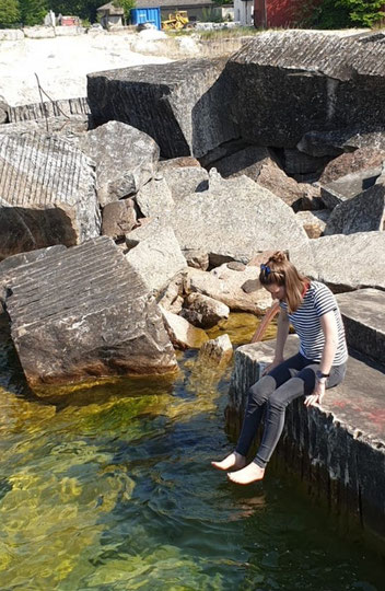 Magdalena bei den Steinbrüchen von Borghamn am Vättern