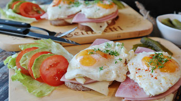 Eier Ei Egg Spiegelei Frühstück
