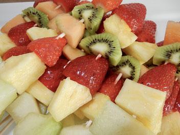 Fruchtspieße, Früchte, frisch, fruchtbar mobil