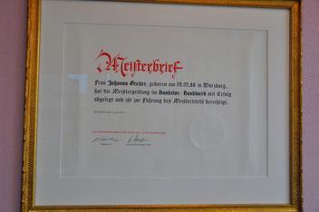 Johannas Meisterbrief
