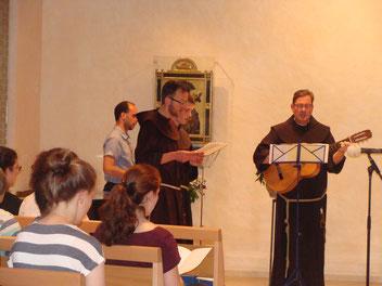 Foto von der feierlichen Profess von Br.Mathias Müller