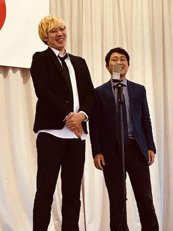 名古屋お笑い芸人 ファニーチャップ 熊野市公民館で漫才
