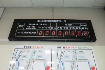 京都府警察自動車運転免許試験場電光掲示板