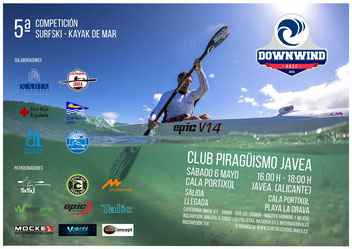Cartel 5ª Competición Surfski -  Kayak de Mar