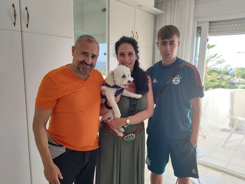 """Rafael, Paloma with their son and pet """"Rocky"""" from Madrid"""