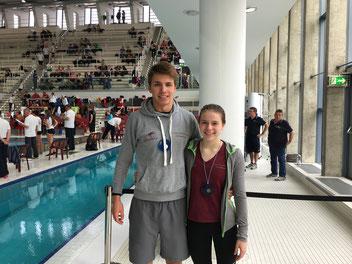 Hannah Becker und Paul Rüssmann konnten bei den NRW Meisterschaften überzeugen