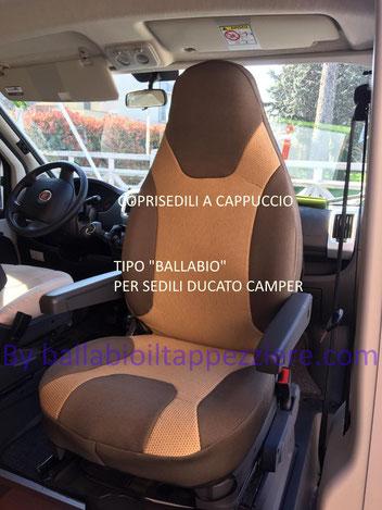 Fodere sedili  ducato furgone e camper a cappuccio   By ballabioiltappezziere.com