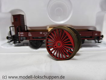 Märklin 46077  Niederbordwagen Ep. III Bauart X05 DB zum Tranport Lokradsätzen