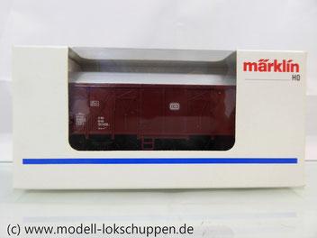 Märklin 4411 Gedeckter Güterwagen Grs-v 213 der DB mit beleuchteter Schlusslaterne