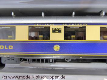 """Reisezugwagen-Satz """"Rheingold"""" der DR / Märklin 4228"""