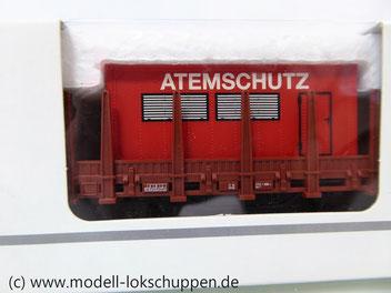 Märklin 00752-03 Rungenwagen DB mit  Feuerwehr Container Atemschutz
