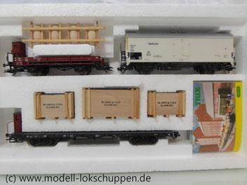 """Trix 24030 DB Güterwagen Set  """"Seehafen"""" 3 Waggons """"Tor zur Welt"""""""