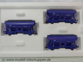 Märklin 46340 Set 3 Klappdeckelwagen Typ Uds-y 244 der NS