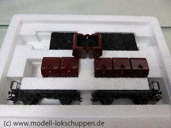 Märklin 48271 Set mit 2 Behältertragwagen mit Kohlekübeln, DB