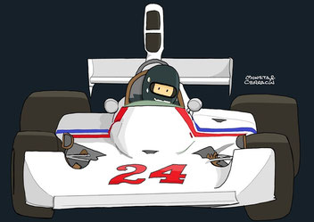 James Hunt al volante by Muneta & Cerracín