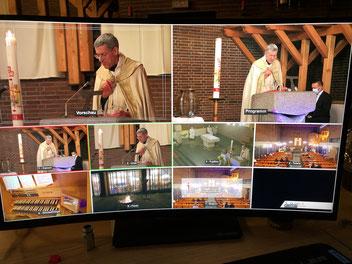 Kameraperspektiven in der Osternacht