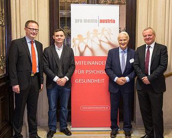 v.l.n.r.: Günter Klug, Janosch Schobin, Werner Schöny, Manfred Spitzer