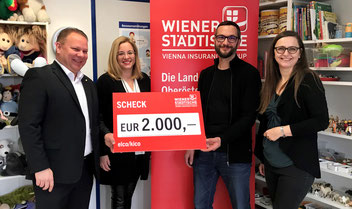 v.l.: Heinz Falmbigl, Christa Raggl-Mühlberger, Hans Gruber, Christa Mayrhofer