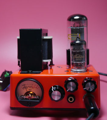 mini Fender Princeton 5F2-A 真空管ミニギターアンプ自作 Guitar Small Tube Amplifier Head build - 12V6(6V6) GT