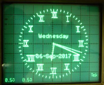 Oscilloscope Clock Kit オシロスコープ時計キット製作