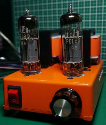 PCL82(16A8) DC-DC  シングルアンプ ミニワッター DIY-Audio  Single-Ended DC-DC 16V to 240V Tube Amplifier
