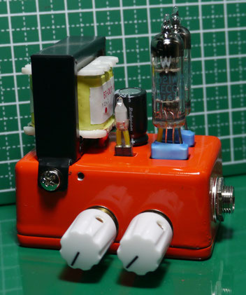 ミニギターアンプ自作 Guitar Micro Tube Amplifier build - Size:60mmX40mm