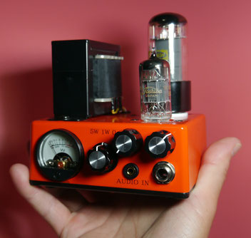 DIY Guitar Tube Amplifier Head - mini Fender Princeton 5F2-A  5W 真空管ミニギターアンプ自作 5/1/0.1 WATT