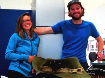 Anna und Andreas - warteten auf ihren Heim-Flug nach Deutschland