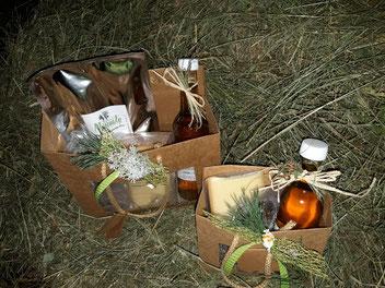 Die Geschenktaschen mit Musenalp-Produkten.