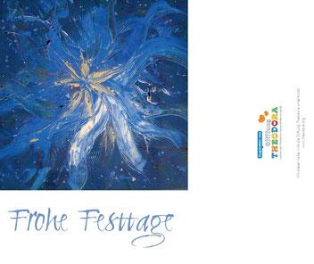 Weihnachtskarte mit Stiftungs - Logo Theodora