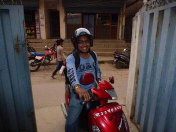 Ramesh nach seinem Aufenthalt in Humla
