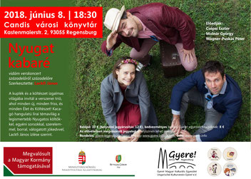 nyugat kabaré, magyar kulturális program regensburg, elöadói est, vidám verskoncert századelőről századelőre