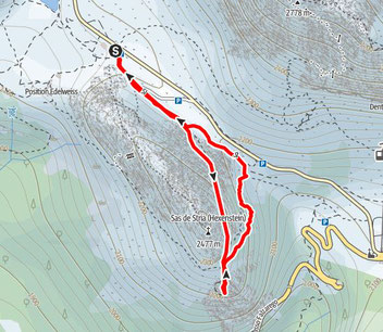 Goinger Festung, Goinger Stollen, Dolomiten, Sas di Stria