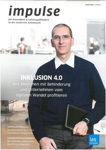 """Der Beitrag ist erschienen im Magazin """"impulse - für Gesundheitheit & Leistungsfähigkeit in der modernen Arbeitswelt"""" (Ausgabe 1/2017)"""