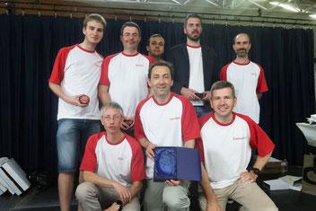 l'équipe de Rouen, 2e en Elite (photo origine FFSC)