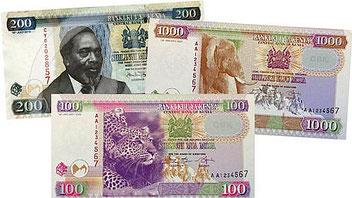 La nuova valuta del Kenya. Vecchie e nuove banconote