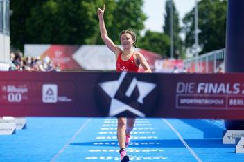 Deutsche Meisterin über die Sprint-Distanz: Lisa Tertsch (Quelle: DTU; Petko Beier)