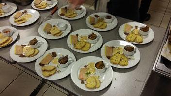 Declinaison de foie gras autour du mais et de la truffe