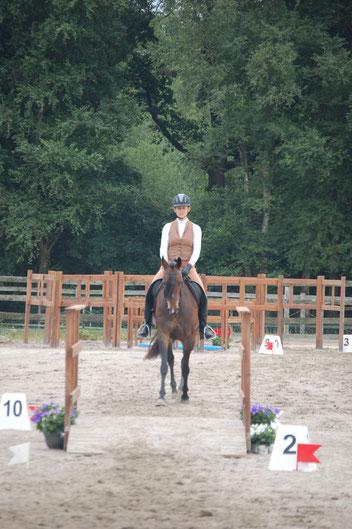 rijden ovber de brug met paard, Brug working equitation, stijltrail rijden