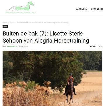 je paard trainen in het bos
