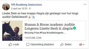 Auditie longeren Human & Horse Academy