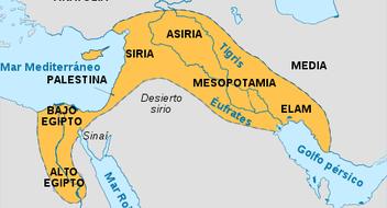 Máxima extensión que tuvo el Imperio asirio.