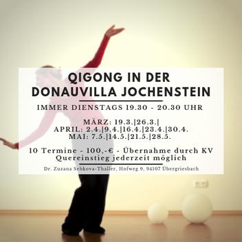 Qigong, Qigong in Niederbayern, Qigong an der Donau, Qigong in Passau, Zuzana Sebkova-Thaller, Qigongweg, Donauvilla, Donauvilla Jochenstein, Kulturangebot