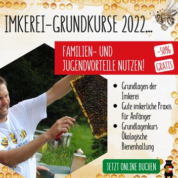 Grundkurse für Imker 2022: Jetzt anmelden und Kursplätze sichern!