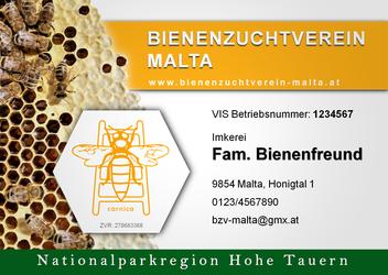 Die ansprechenden Standtafeln des BZV Malta erfüllen mehr als die gesetzlichen Vorgaben für Bienenhalter
