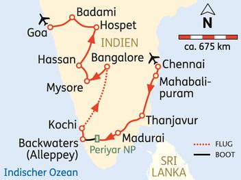 Süd-Indien Rundreise Weihnachten Silvester 17.12.- 5.1.18 jetzt buchen