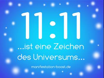 11:11 ist ein Zeichen des Universums