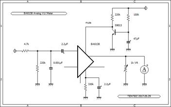 BA6138 Analog VU Meter schematic VUメーター回路図